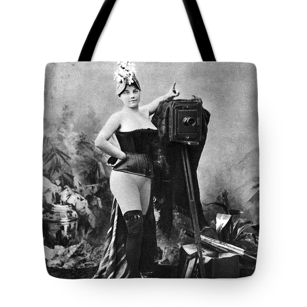 Tote Bag featuring the painting Nude And Camera, C1880 by Granger