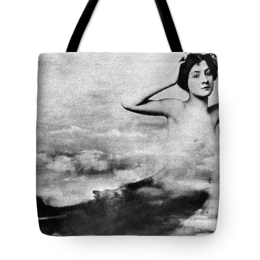 1890s Tote Bag featuring the photograph Nude As Mermaid, 1890s by Granger