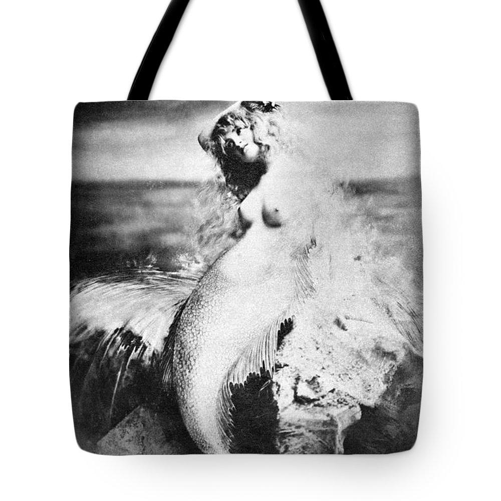 Tote Bag featuring the painting Nude As Mermaid, 1898 by Granger