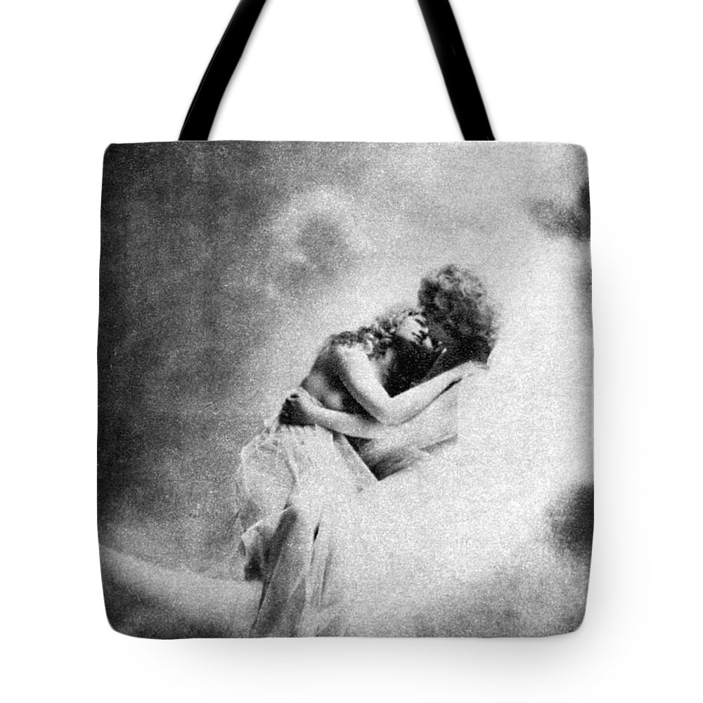 Tote Bag featuring the painting Nude Love Scene, 1890s by Granger