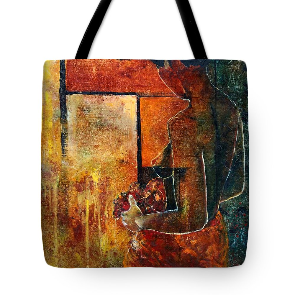 Woman Girl Fashion Nude Tote Bag featuring the painting Nude by Pol Ledent