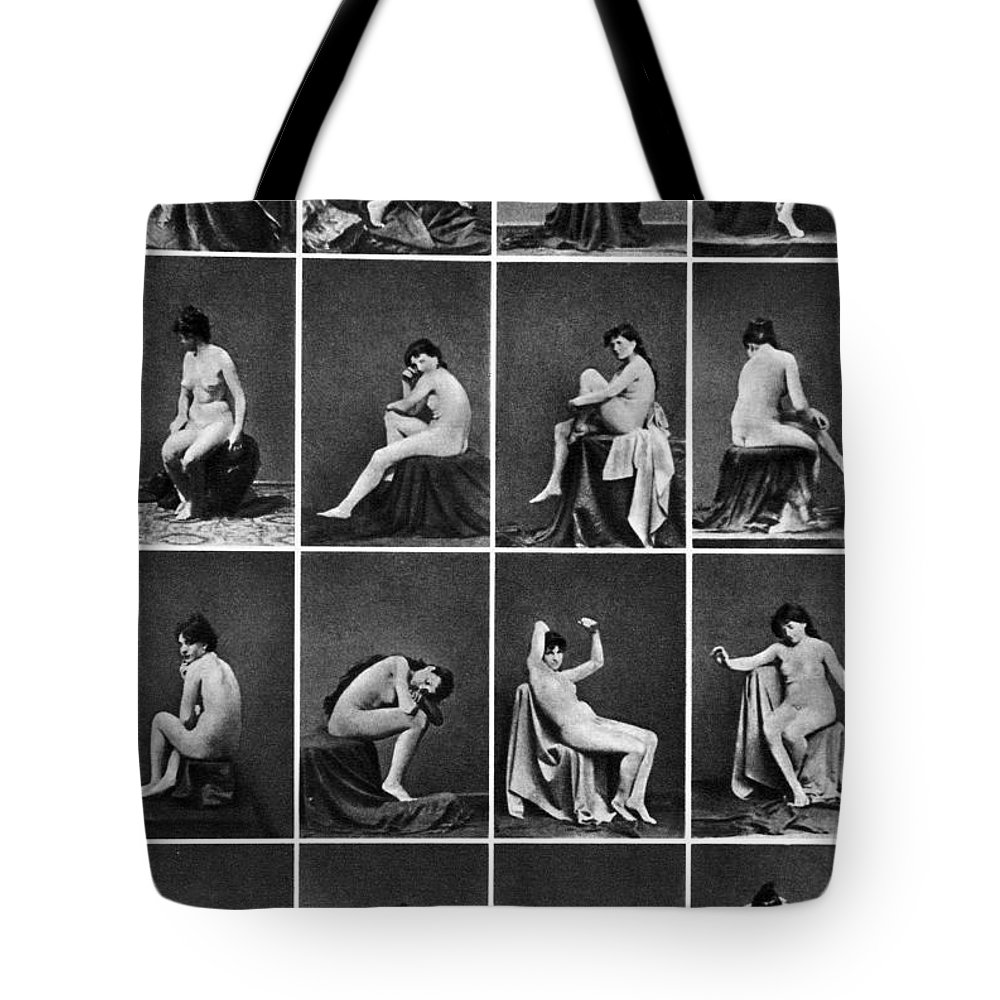 Tote Bag featuring the painting Nude Posing, C1875 by Granger