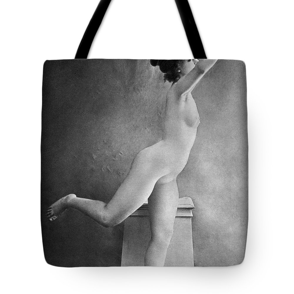 1900 Tote Bag featuring the photograph Nude Posing, C1900 by Granger