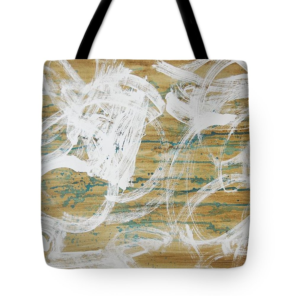 Abstract Tote Bag featuring the painting Nuevo Colores by Lauren Luna