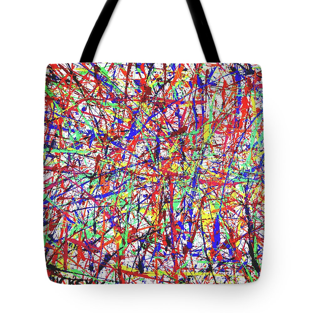 Abstract Expressionism Tote Bag featuring the painting Number One by Ducksy