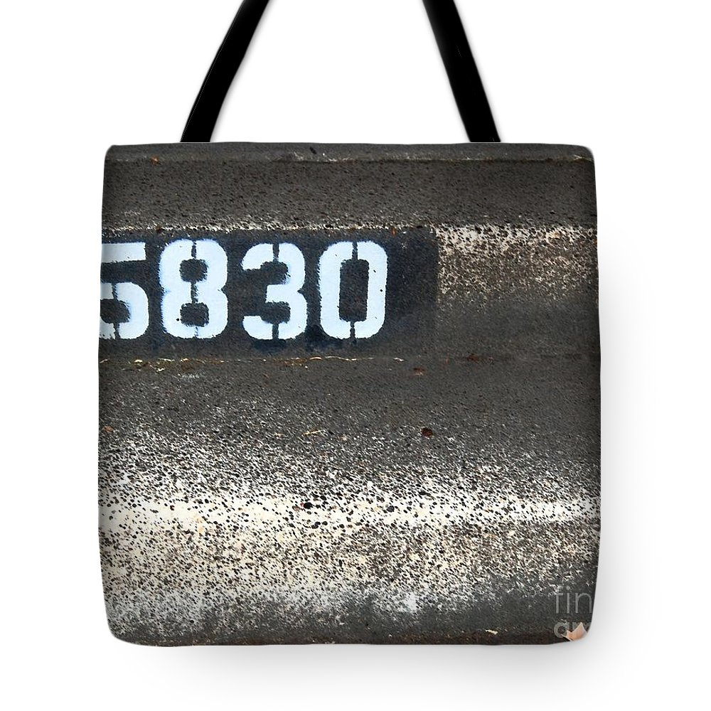 Numbers Tote Bag featuring the photograph Numbers by Debbi Granruth