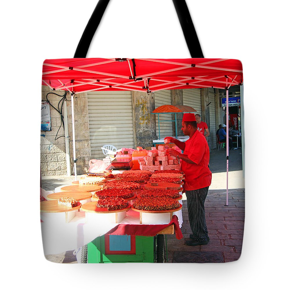 Nuts Seller Tote Bag featuring the photograph Nuts Seller by Munir Alawi