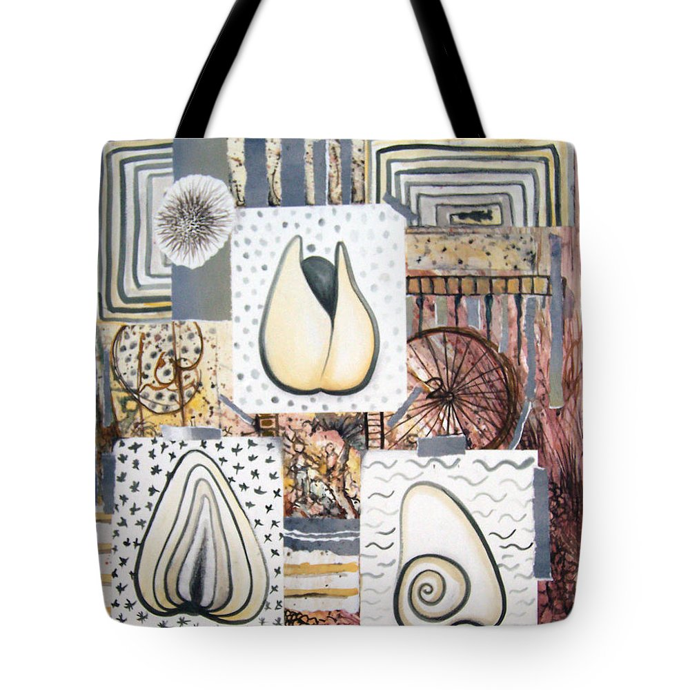 Abstract Tote Bag featuring the painting Nuts by Valerie Meotti