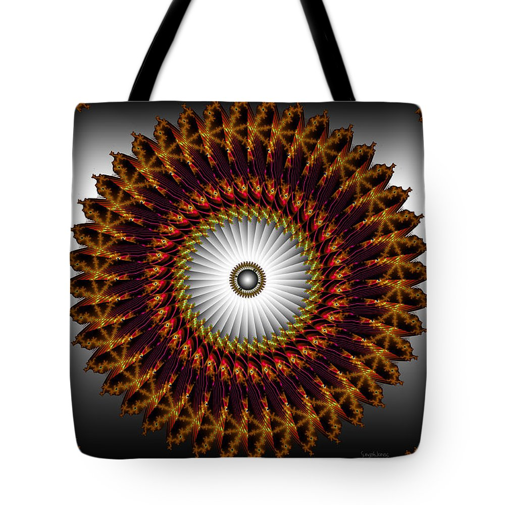 Fractal Tote Bag featuring the digital art Ny Times by Robert Orinski