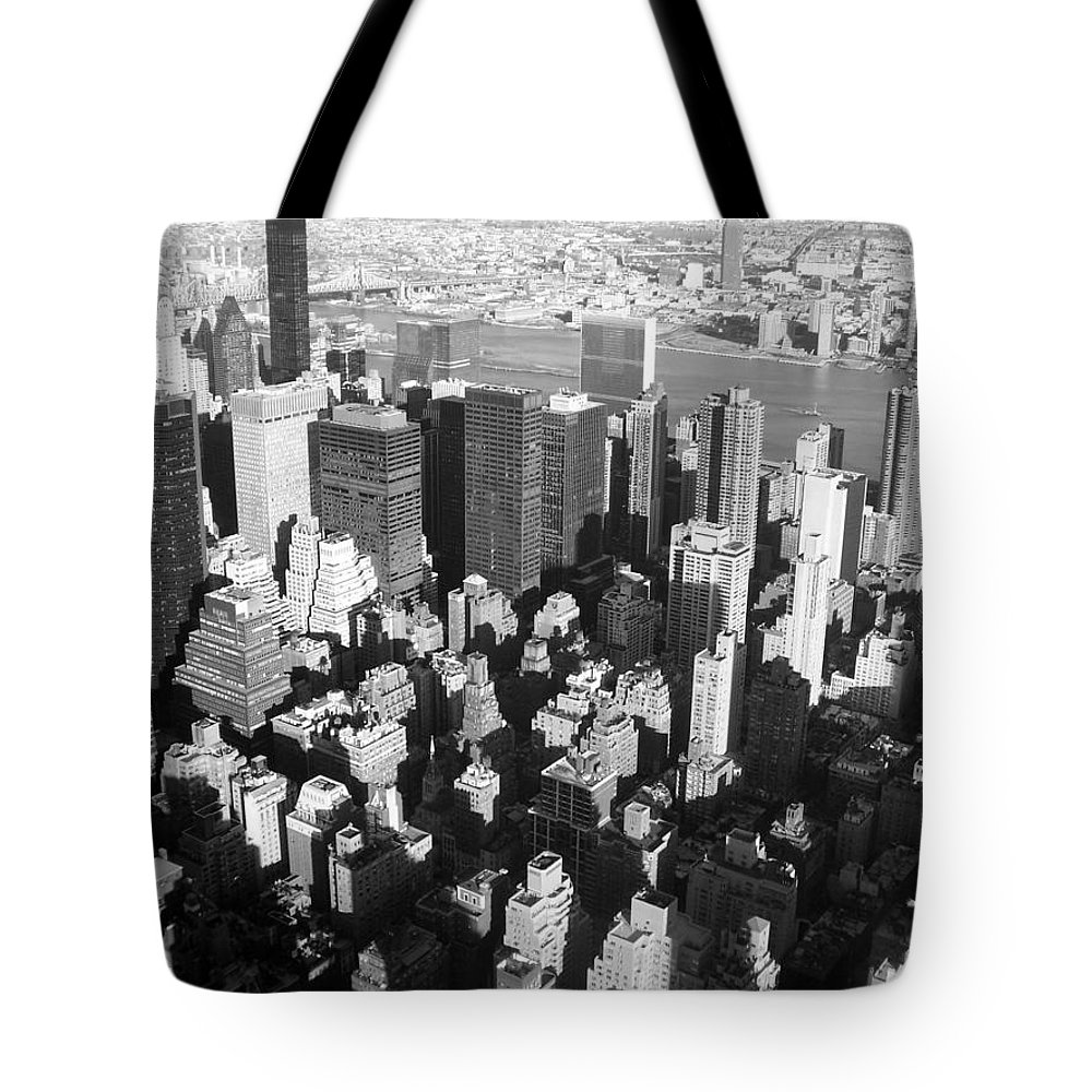 Nyc Tote Bag featuring the photograph Nyc Bw by Anita Burgermeister