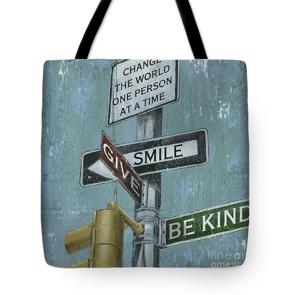 Vintage Tote Bag featuring the painting Nyc Inspiration 1 by Debbie DeWitt