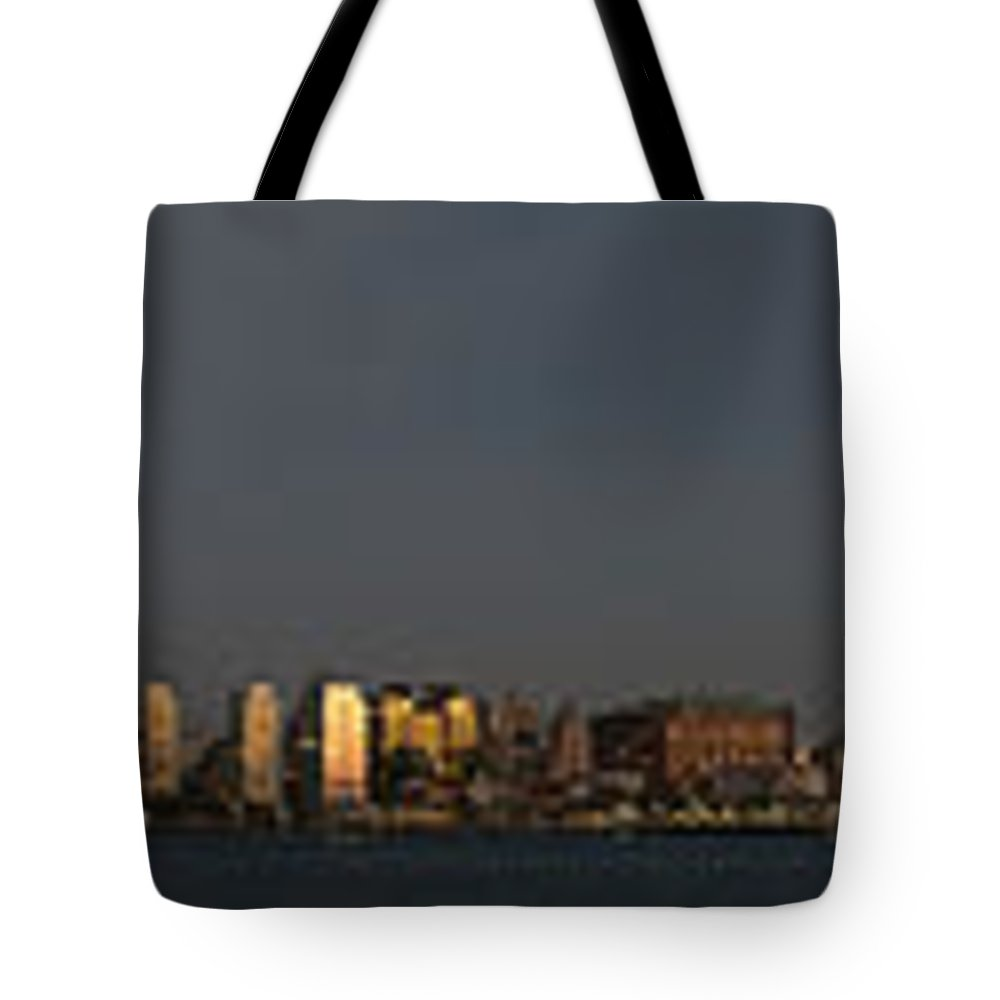 Nyc Tote Bag featuring the photograph Nyc Panoramic by Ross Turiano