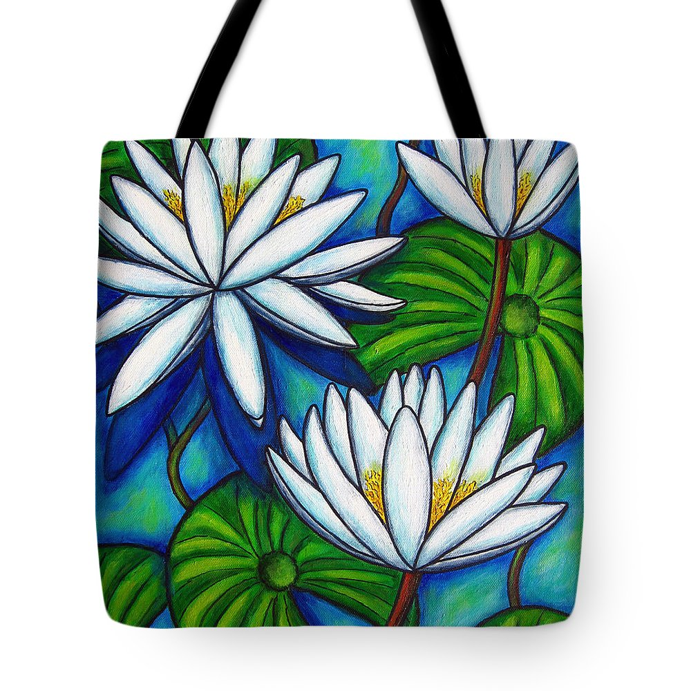 Lily Tote Bag featuring the painting Nymphaea Blue by Lisa Lorenz