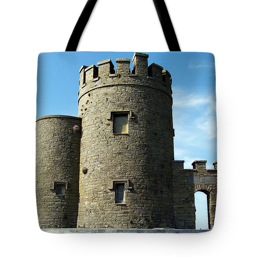 Irish Tote Bag featuring the photograph O Brien's Tower Cliffs Of Moher Ireland by Teresa Mucha