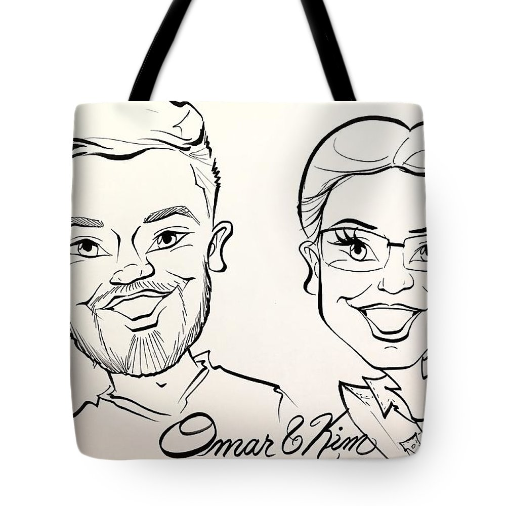 Tote Bag featuring the painting O K by Sally Huhta