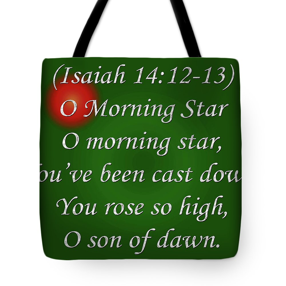 Poem Tote Bag featuring the digital art O Morning Star by Day Williams