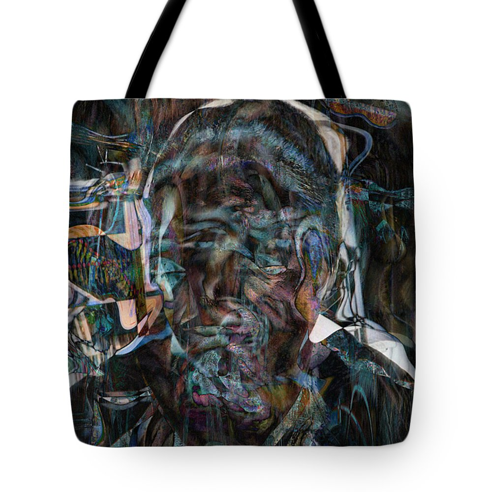 Deep Tote Bag featuring the digital art Oa-5976 by Standa1one
