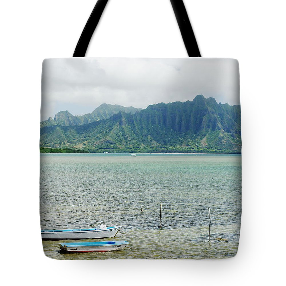 Anchor Tote Bag featuring the photograph Oahu, Kaneohe Bay by Vince Cavataio - Printscapes