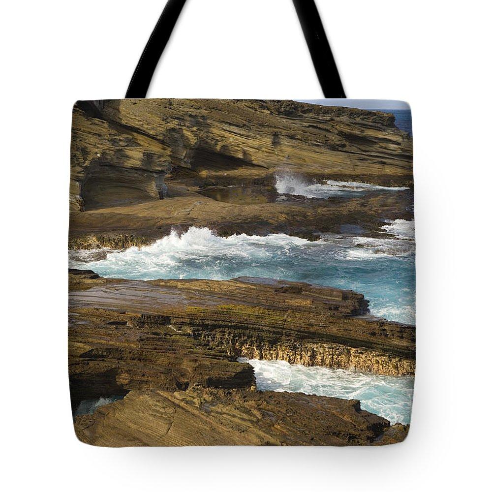 Beautiful Tote Bag featuring the photograph Oahu, Southeast Coast by Dana Edmunds - Printscapes