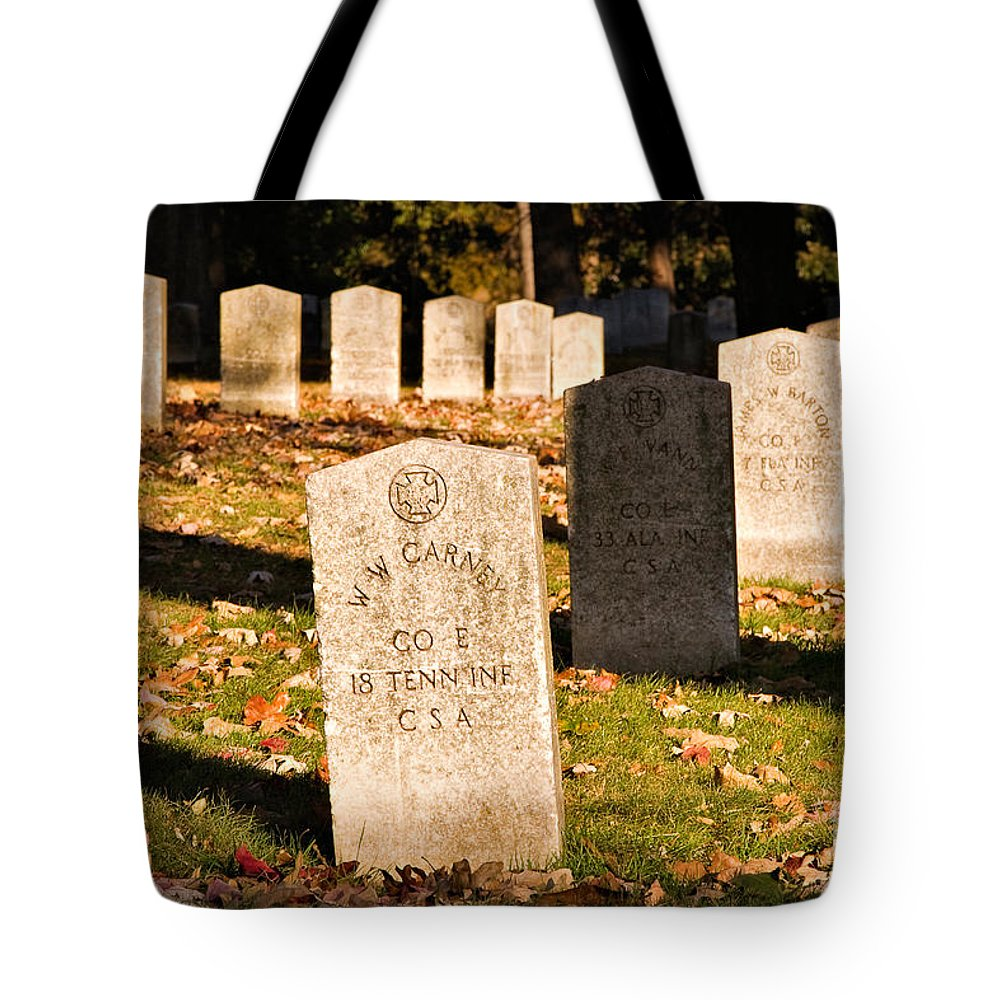Travel Tote Bag featuring the photograph Oakland Cemetery Atlanta by Louise Heusinkveld