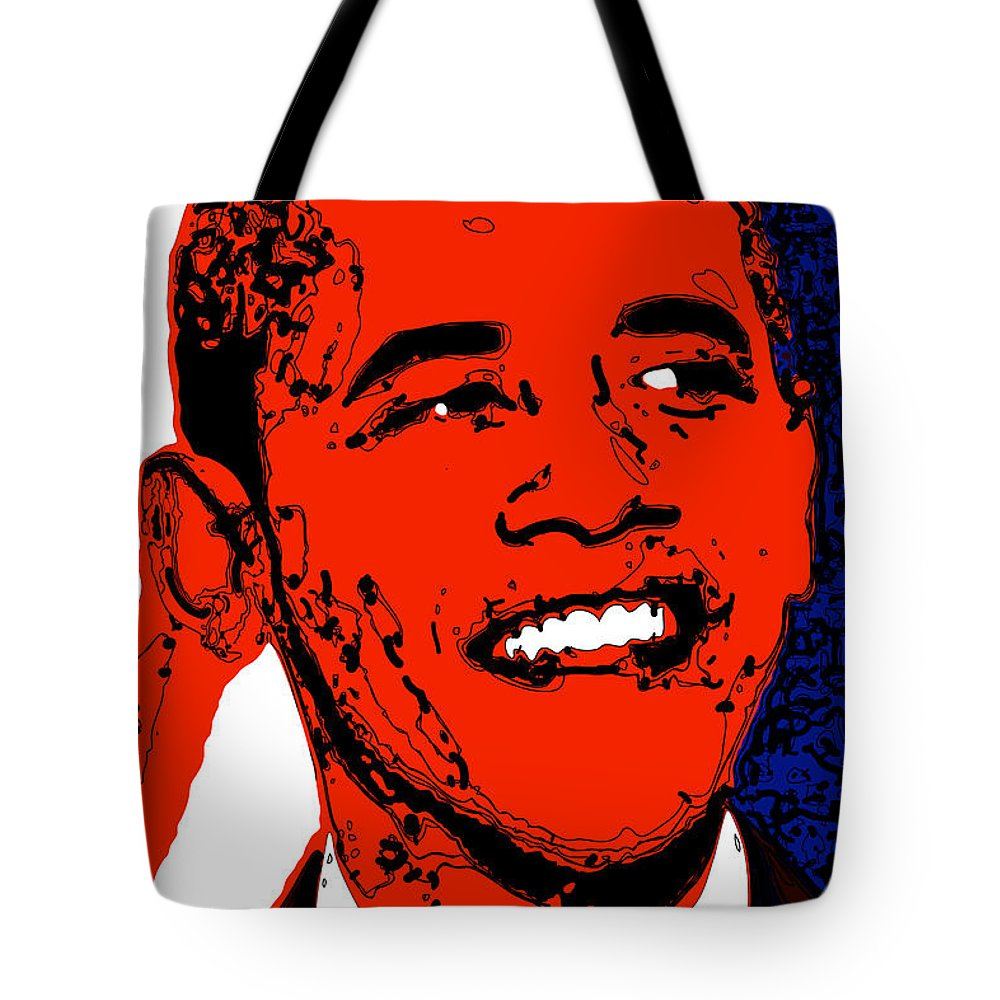 African Tote Bag featuring the digital art Obama Hope by Rabi Khan