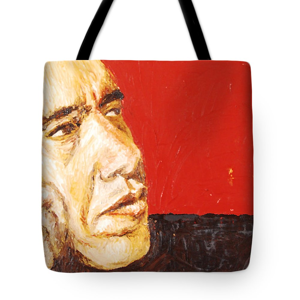 Obama Tote Bag featuring the painting Obama by Lauren Luna