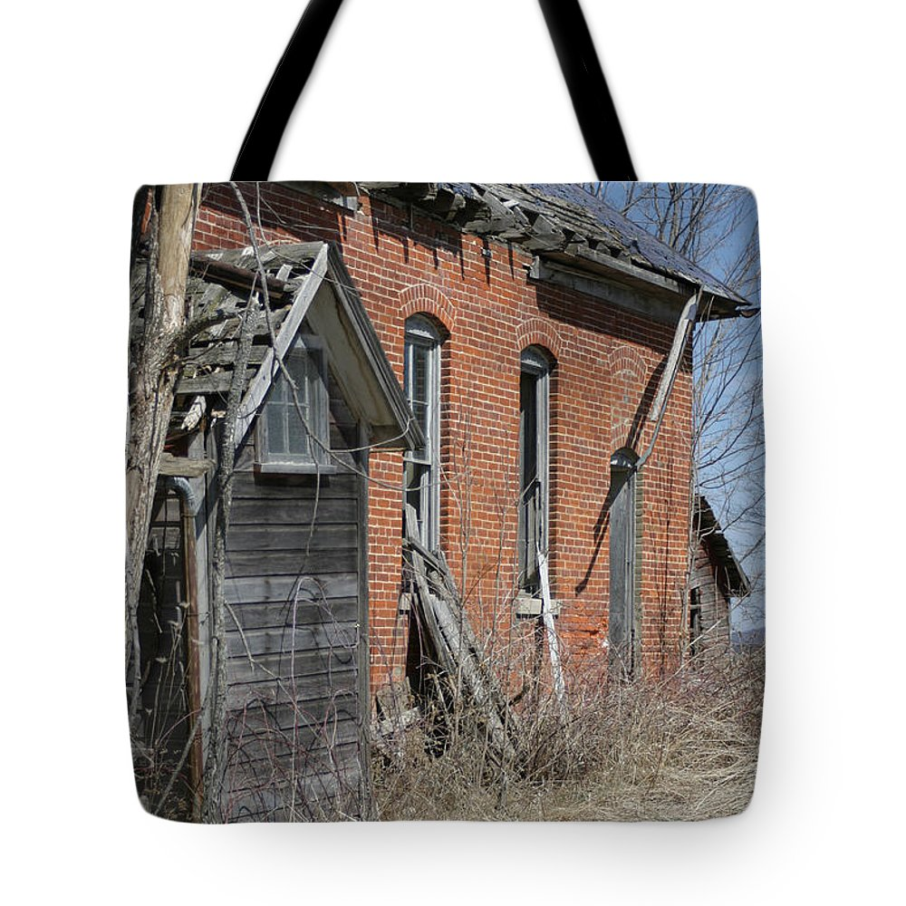 Old Buildings Tote Bag featuring the photograph Object by Bjorn Sjogren