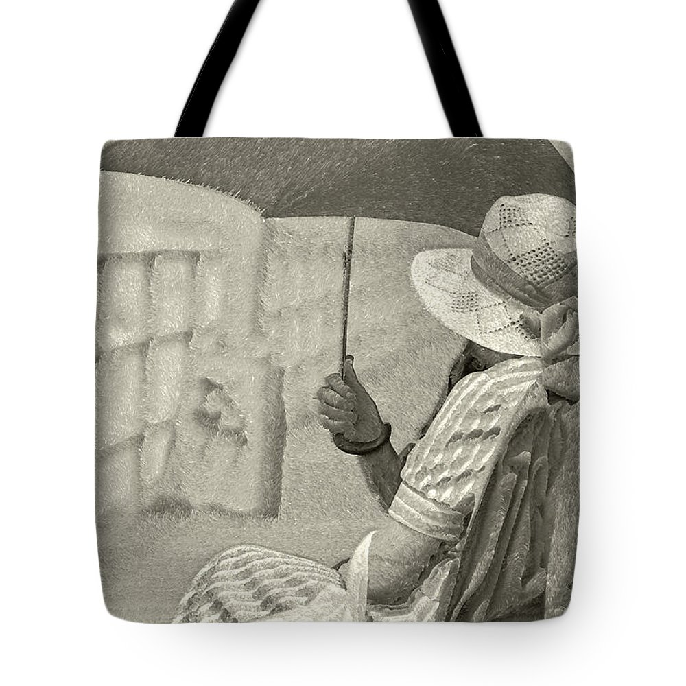 Black And White Tote Bag featuring the photograph Obscure by Jeff Breiman