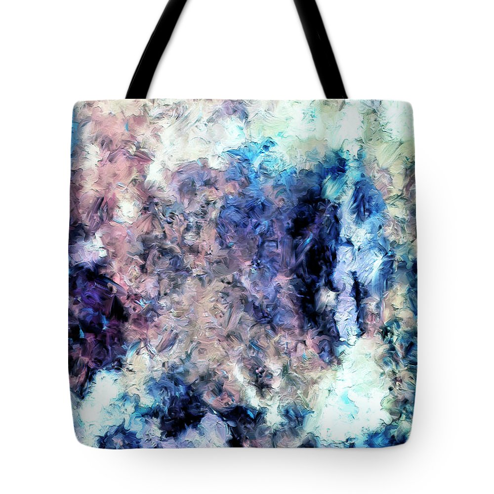 Abstract Tote Bag featuring the painting Obscured By Clouds by Dominic Piperata