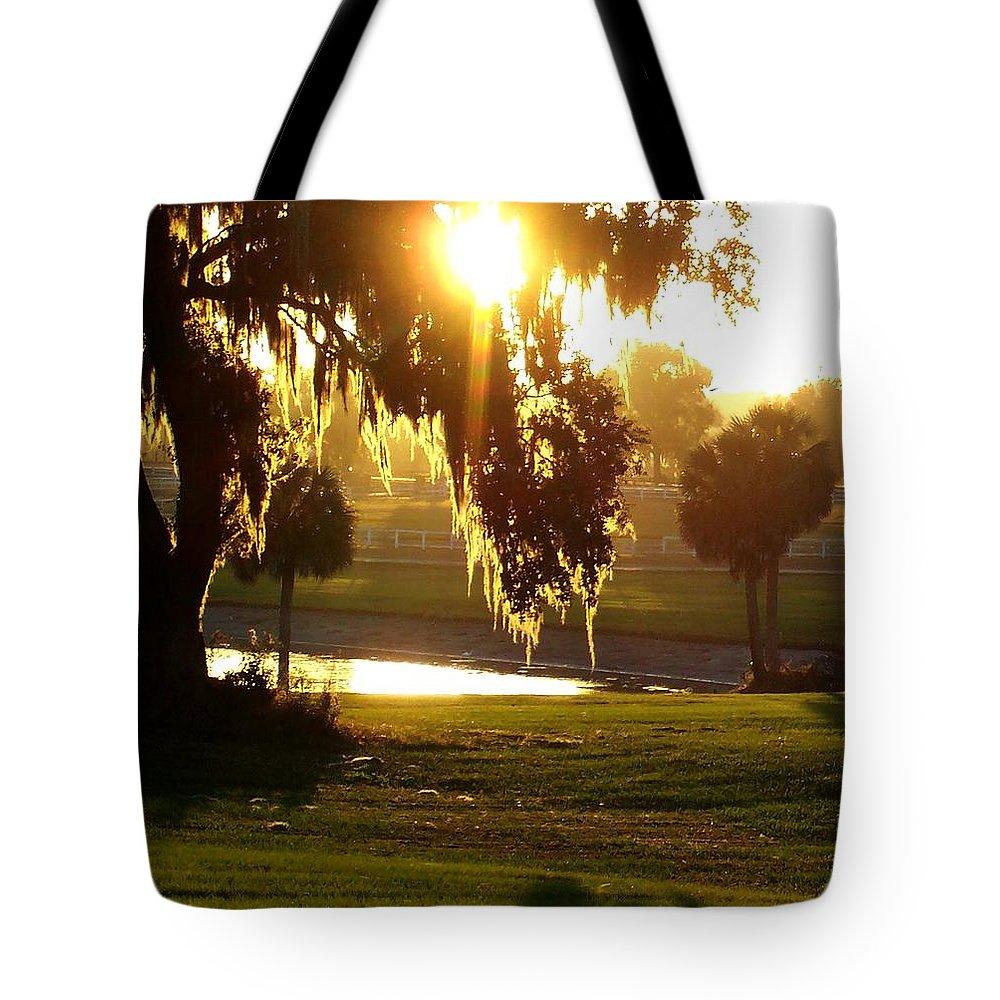 Sunset Tote Bag featuring the photograph Ocala Sunset by Kristen Wesch