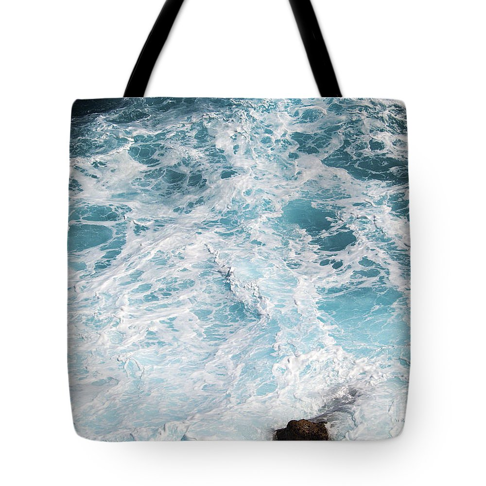 Fine Art Photography Tote Bag featuring the photograph Ocean Abstract by Patricia Griffin Brett