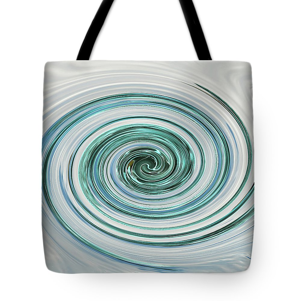 Blue And Cream Abstract Tote Bag featuring the photograph Ocean Blue Whip by Gill Billington