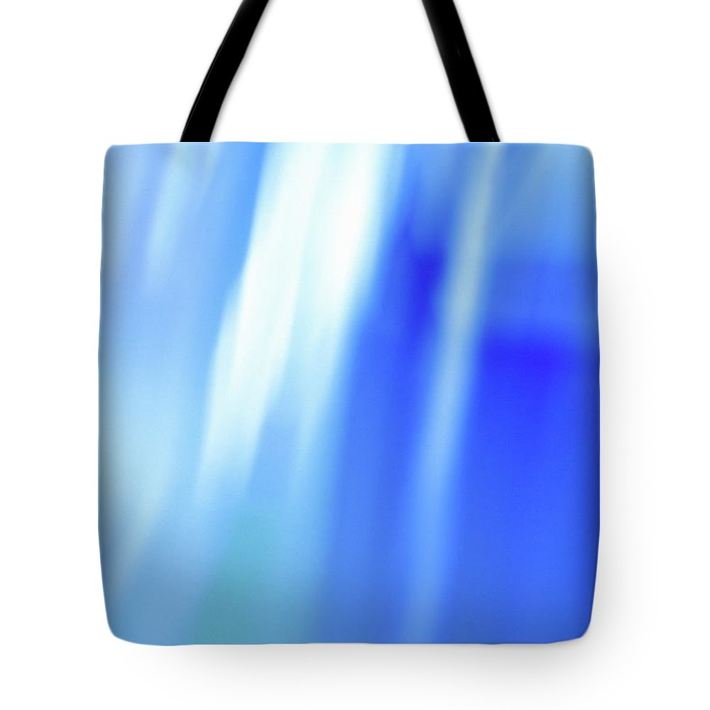Laura Fasulo Tote Bag featuring the mixed media Ocean Blues Abstract by Laura Fasulo