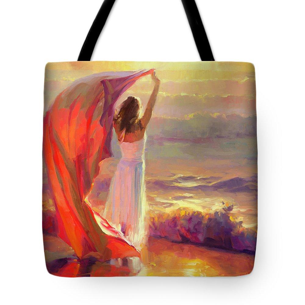 Ocean Tote Bag featuring the painting Ocean Breeze by Steve Henderson