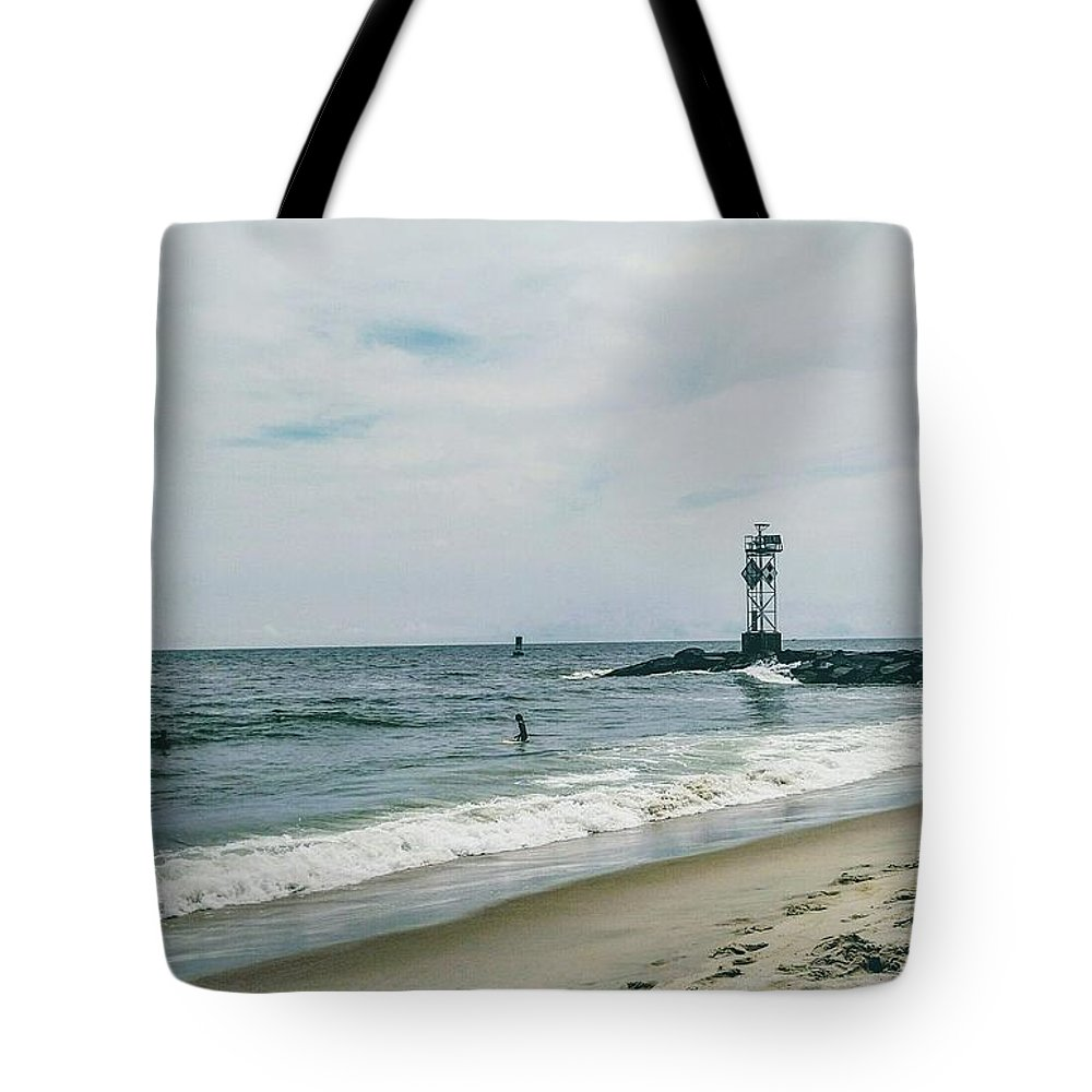Water Tote Bag featuring the photograph Ocean City I by Aly Robinson