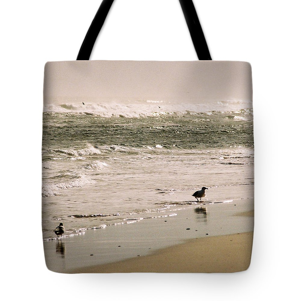 Seascape Tote Bag featuring the photograph Ocean Edge by Steve Karol