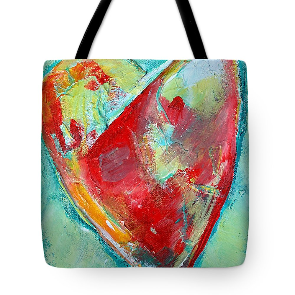 Heart Tote Bag featuring the painting Ocean Heart by Racquel Morgan