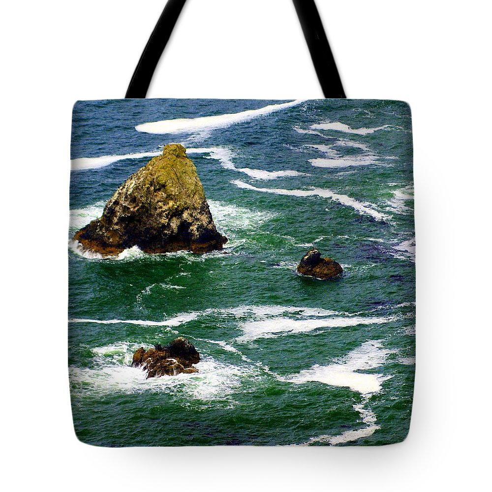 Ocean Tote Bag featuring the photograph Ocean Rock by Marty Koch