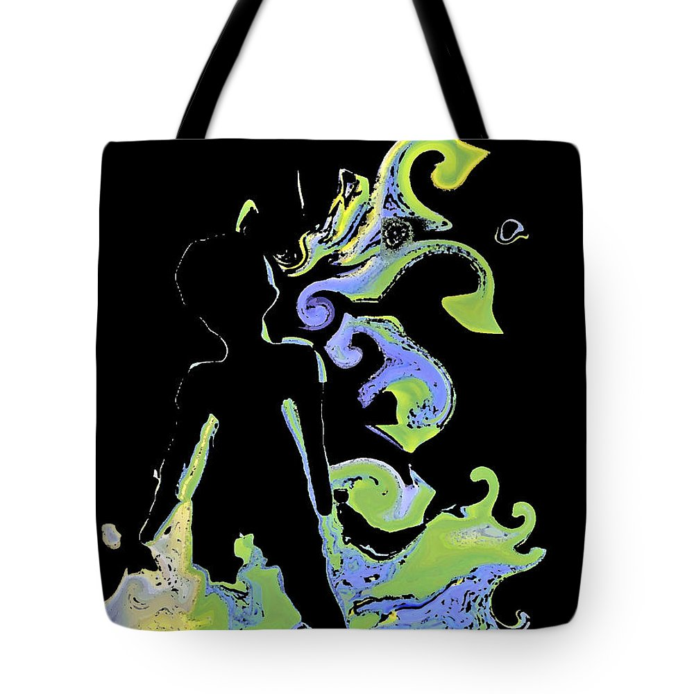 Ocean Tote Bag featuring the digital art Ocean by Shelley Jones