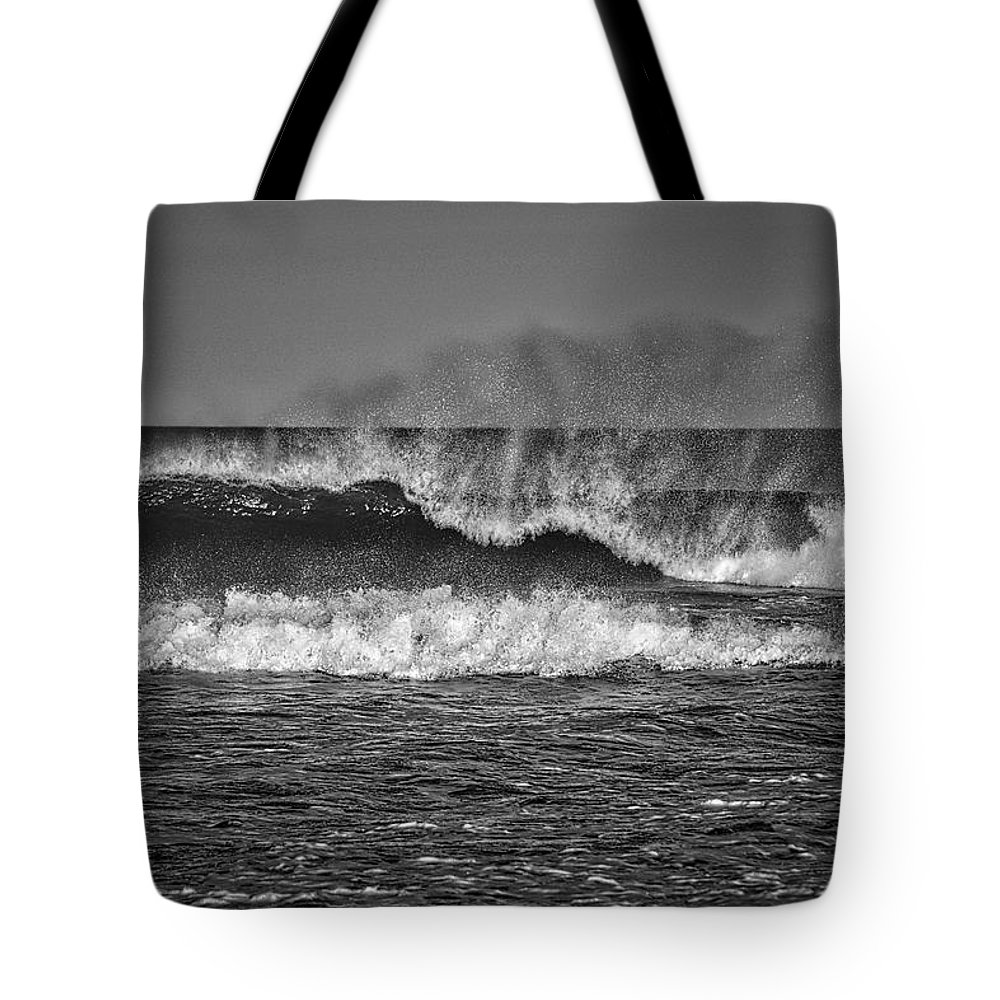 Photography Tote Bag featuring the photograph Ocean Spray by Raven Steel Design