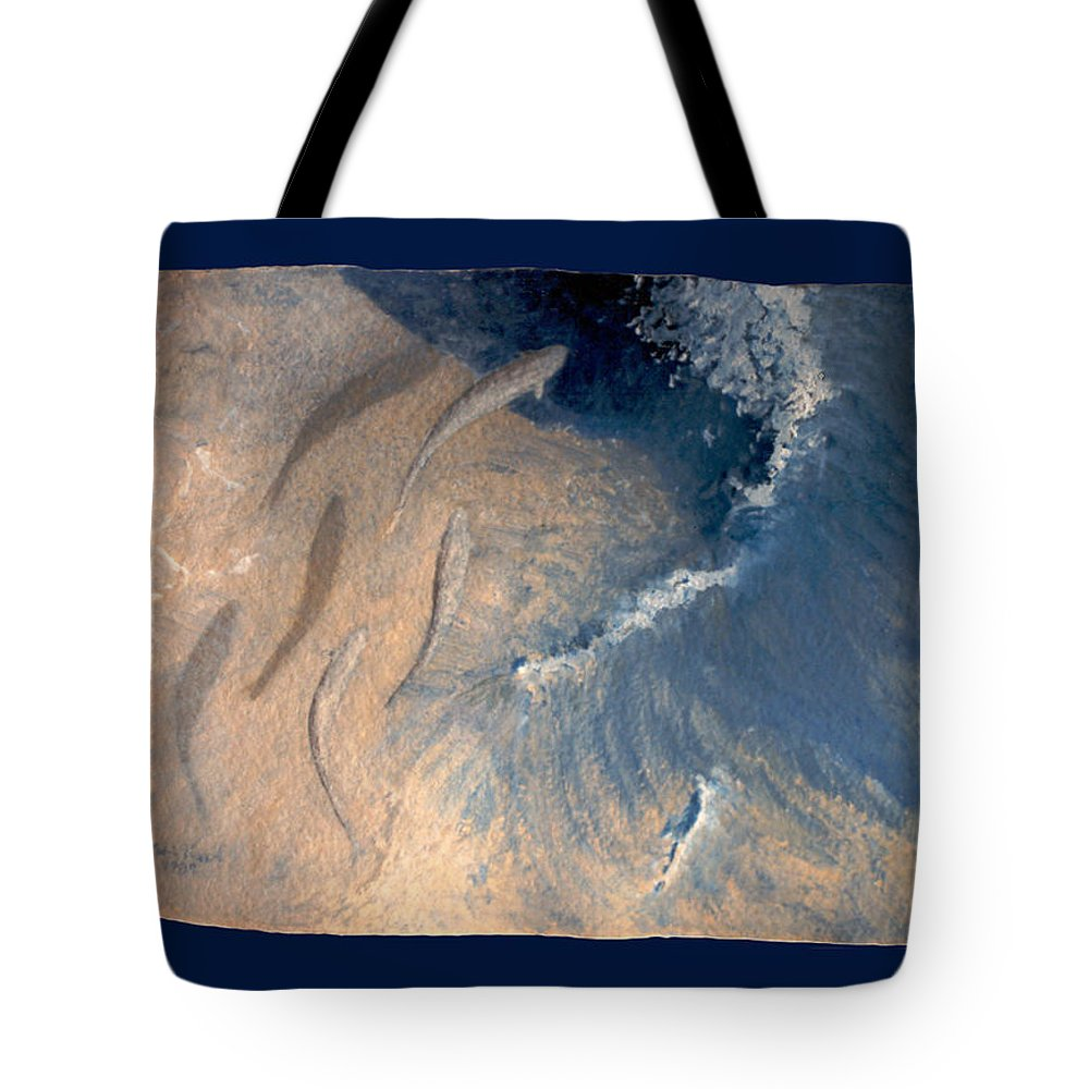 Seascape Tote Bag featuring the painting Ocean by Steve Karol
