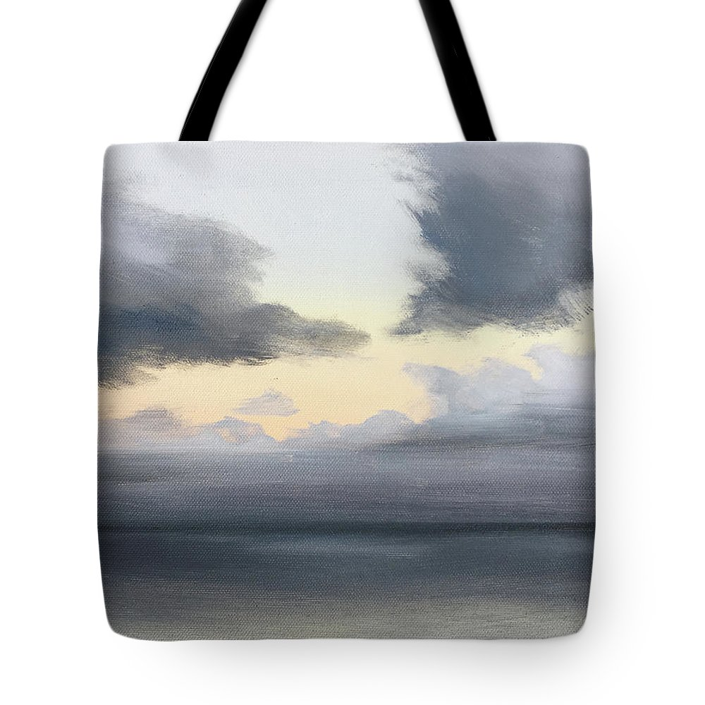 Sea Tote Bag featuring the painting Ocean Sunset by Doreen Starling