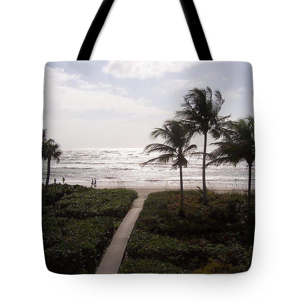 Sanibel Tote Bag featuring the photograph Ocean View 2007 by Elizabeth Klecker