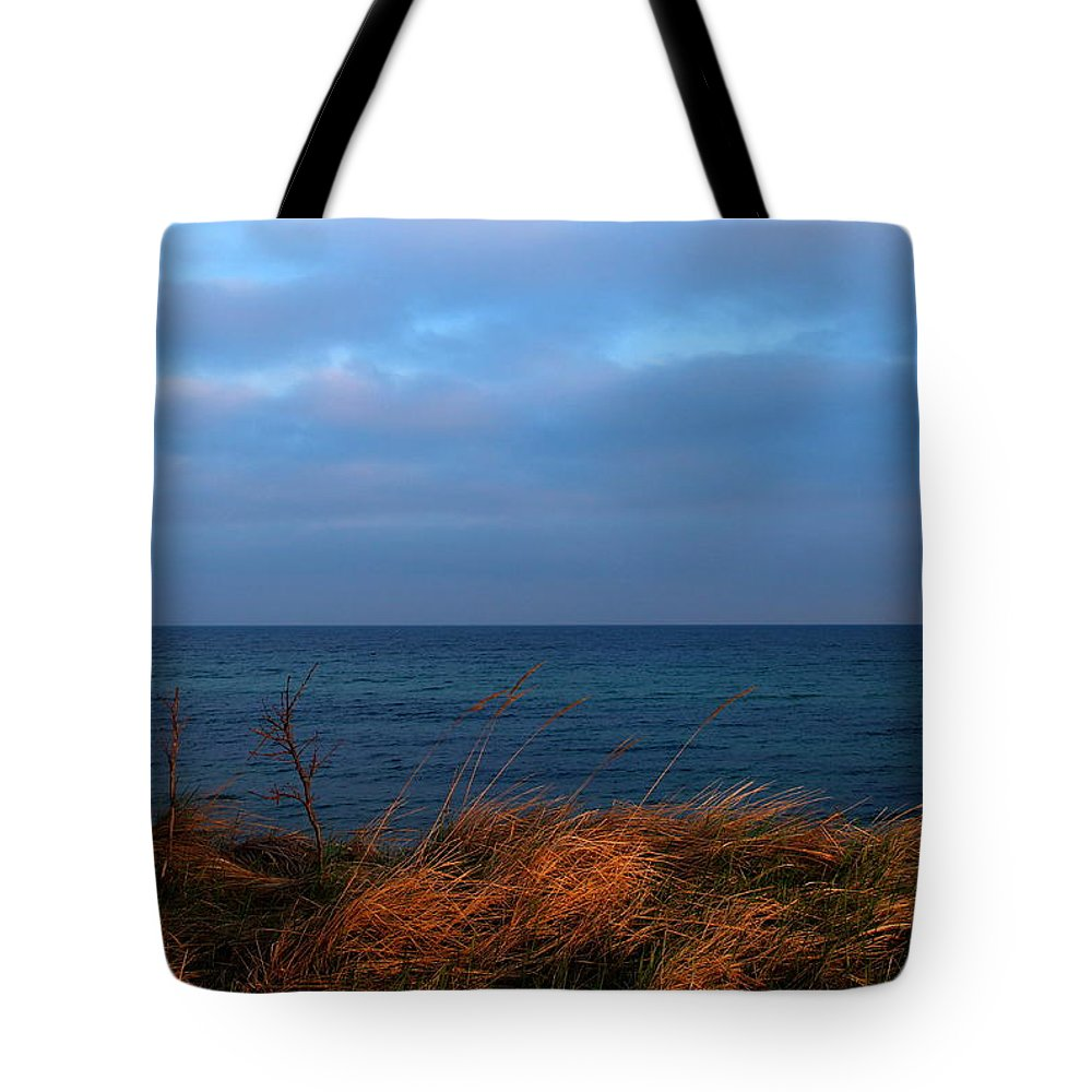 Blue Tote Bag featuring the photograph Ocean View by Heike Hultsch