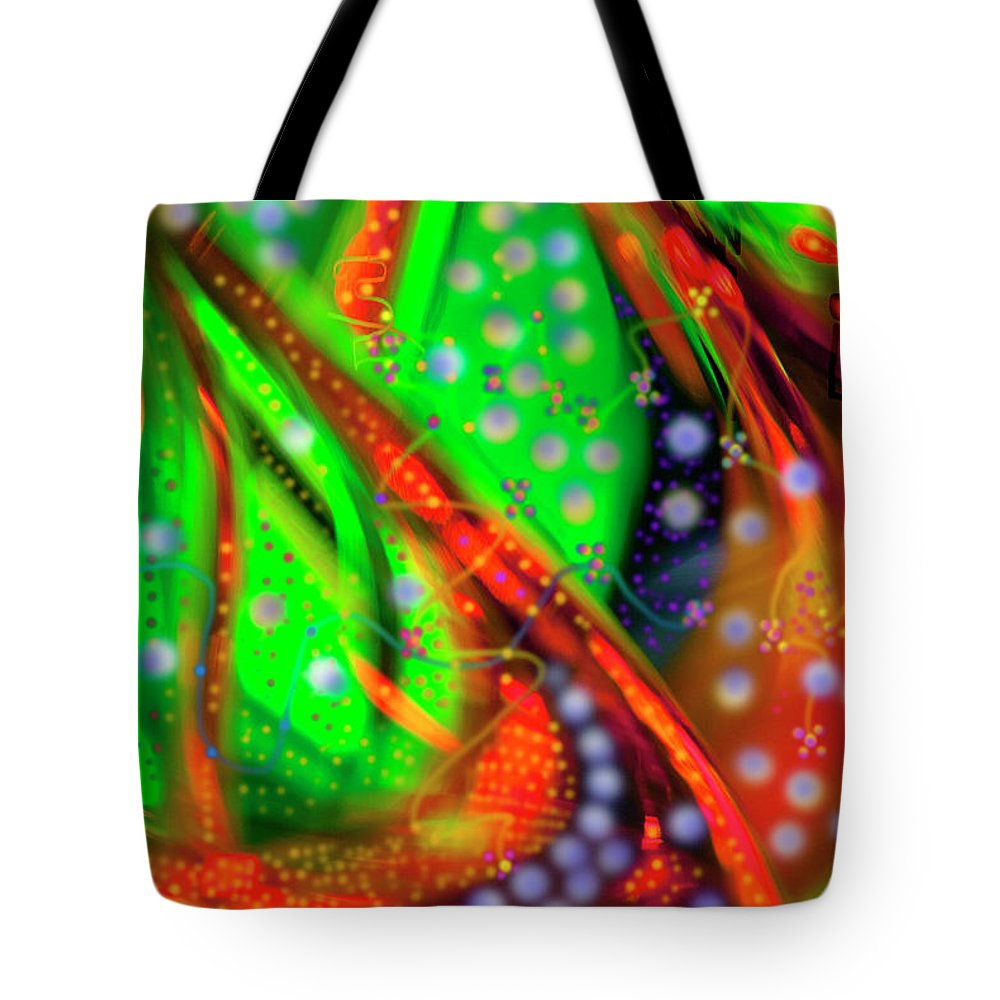 Oceanic Abstract Digital Painting Tote Bag featuring the painting Oceanic Abstract Painting by Don Wright