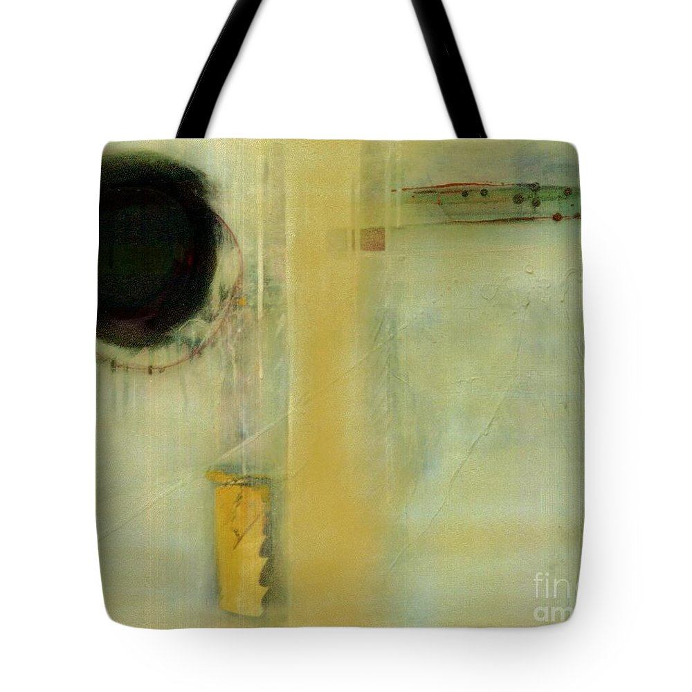 Abstract Tote Bag featuring the painting Ochre Wash Jump by Marlene Burns