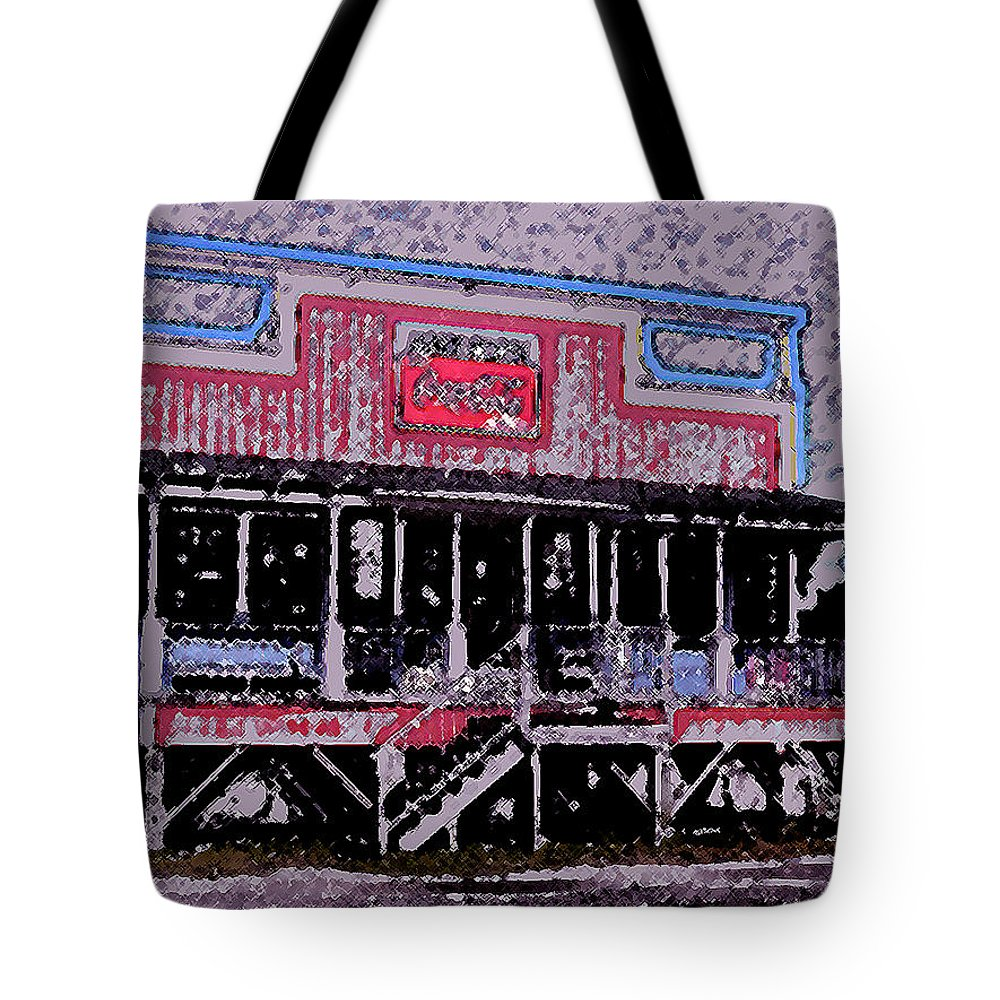 Retail Tote Bag featuring the photograph Ocracoke Island Shop by Wayne Potrafka