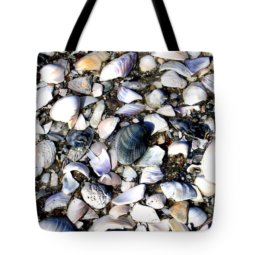 Ocracoke Tote Bag featuring the photograph Ocracoke Shells by Wayne Potrafka