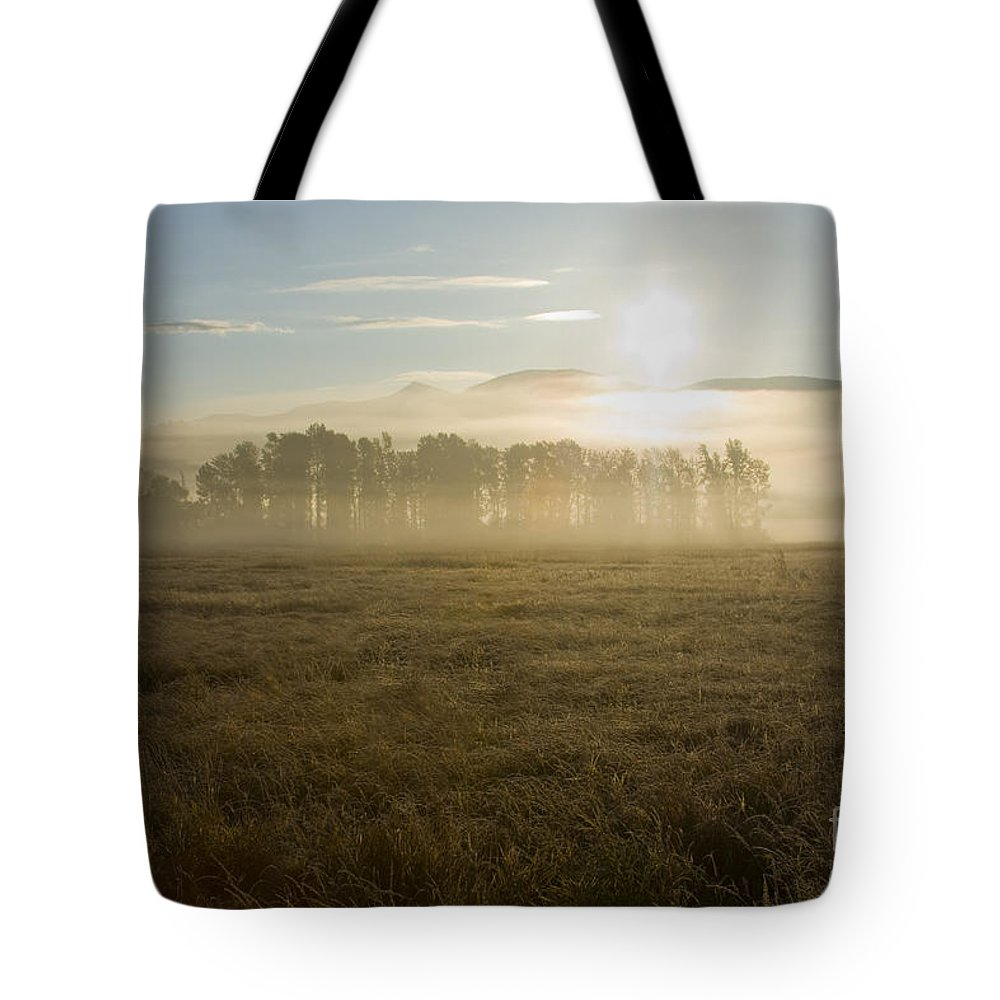 Atmosphere Tote Bag featuring the photograph October Atmosphere by Idaho Scenic Images Linda Lantzy