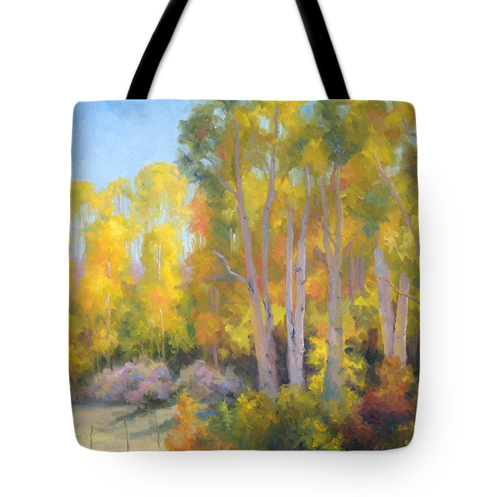 Autumn Tote Bag featuring the painting October Delight by Bunny Oliver